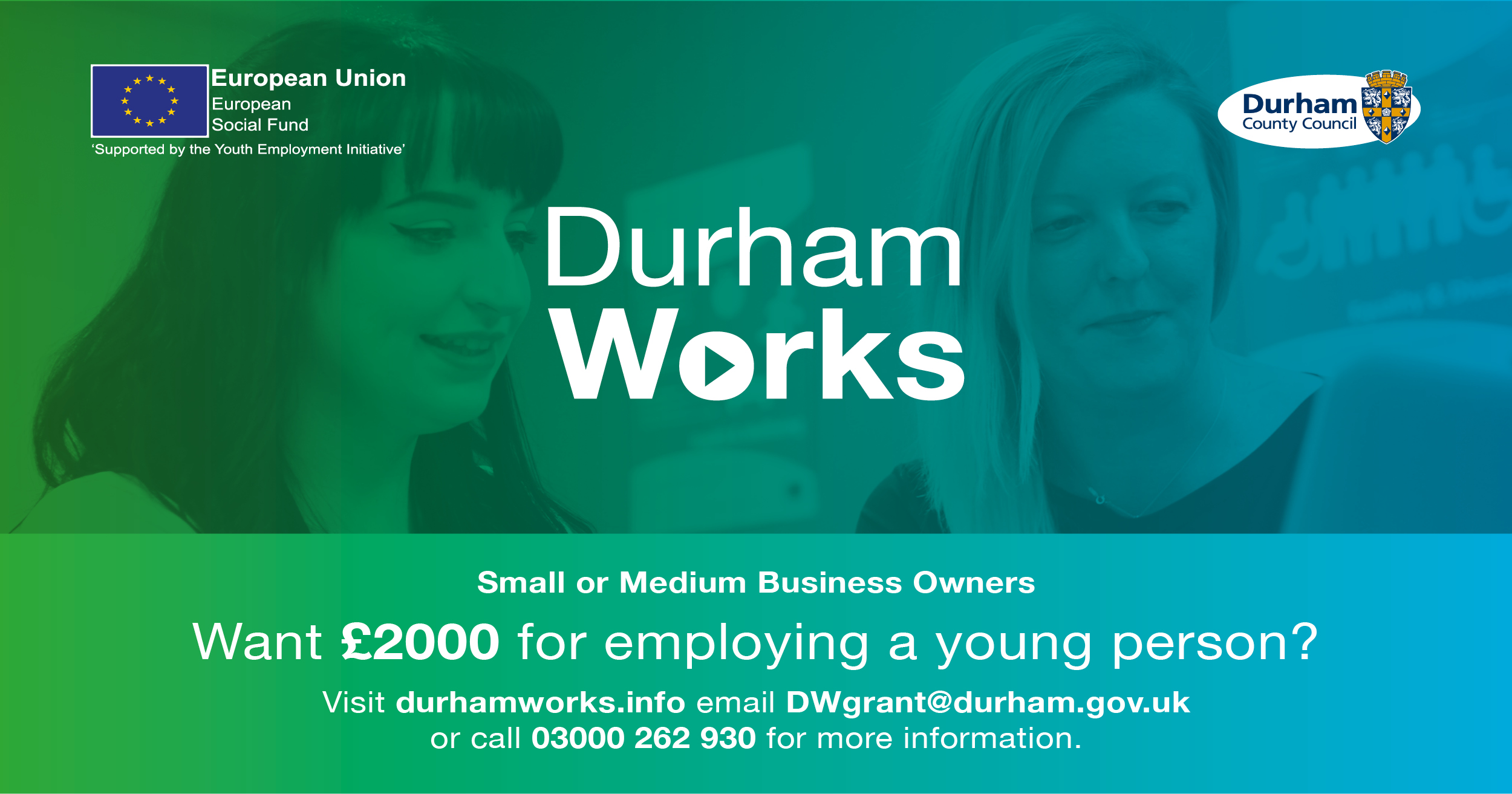 Last Chance to apply for the DurhamWorks Grant